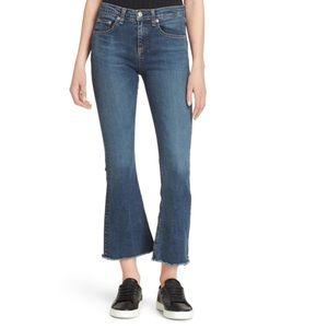 Rag & Bone Crop Flare Jean High Rise